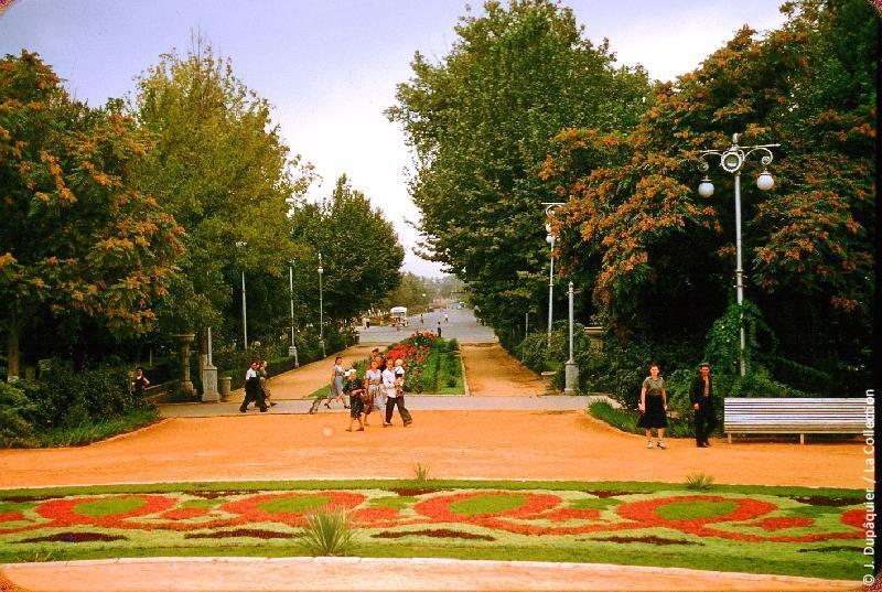 Photographie (résolution écran) : Fonds photographique Jacques Dupâquier — Voyage en URSS en 1956 — Ouzbekistan : «Tachkent-Le jardin central»