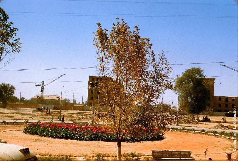 Photographie (résolution écran) : Fonds photographique Jacques Dupâquier — Voyage en URSS en 1956 — Ouzbekistan : «Tachkent-Constructions»