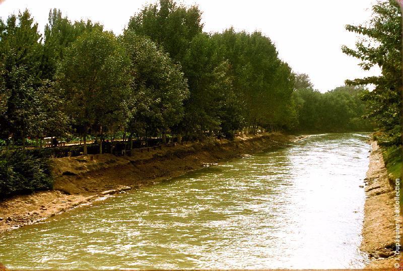 Photographie (résolution écran) : Fonds photographique Jacques Dupâquier — Voyage en URSS en 1956 — Ouzbekistan : «Tachkent-Le canal central»