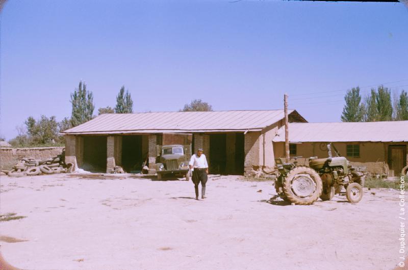 Photographie (résolution écran) : Fonds photographique Jacques Dupâquier — Voyage en URSS en 1956 — Ouzbekistan : «Un kolkhozien au kolkhoze Staline près de Tachkent»