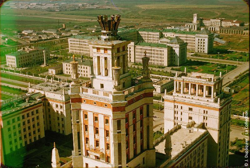 Photographie (résolution écran) : Fonds photographique Jacques Dupâquier — Voyage en URSS en 1956 — Moscou : «Moscou-Université»