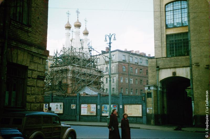 Photographie (résolution écran) : Fonds photographique Jacques Dupâquier — Voyage en URSS en 1956 — Moscou : «Moscou-Vue prise en sortant de Radio-Moscou»