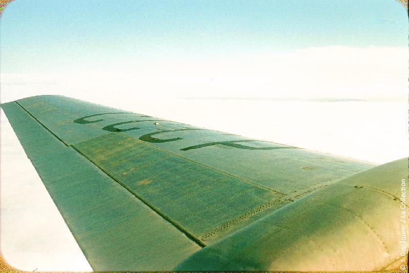 Photographie (résolution écran) : Fonds photographique Jacques Dupâquier — Voyage en URSS en 1956 — Ouzbekistan : «Voyage en  vers Tachkent-Mer de nuages sur la Volga»