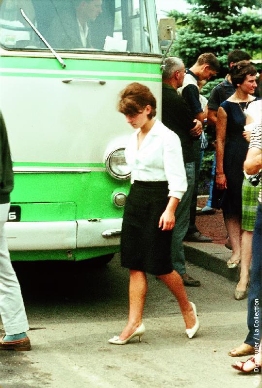 Photographie (résolution écran) : Fonds photographique Jacques Dupâquier — Voyage en URSS en 1964 — Sur la route de Moscou-Minsk Smolensk Borodino : «Minsk-Génia»
