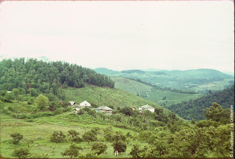 Photographie (résolution écran) : Fonds photographique Jacques Dupâquier — Voyage en URSS en 1964 — Caucase et Georgie : «Paysage près de Dagomyss»