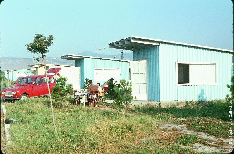 Photographie (résolution écran) : Fonds photographique Jacques Dupâquier — Voyage en URSS en 1964 — Caucase et Georgie : «Tbilissi-Au camping»