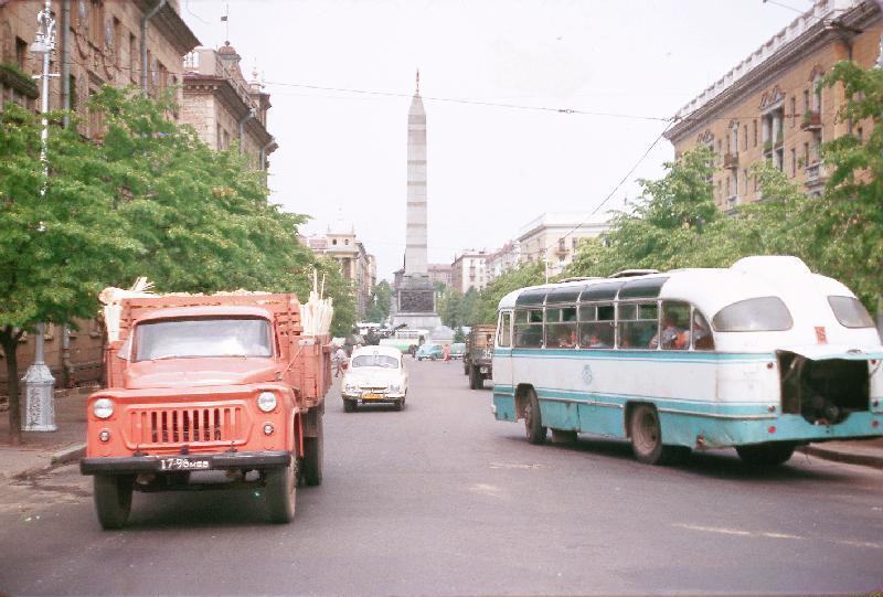 площадь Победы в минске 1964